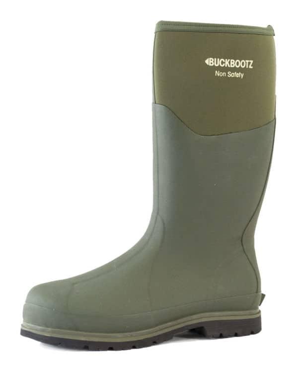 Buckler BBZ5020 Non-Safety Waterproof Rubber Wellington Boots Green