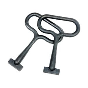 product picture of DUCTILE IRON HEAVY DUTY LOOP HANDLE Manhole cover LIFTING KEY (PAIR)