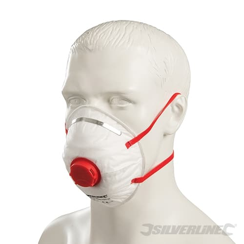 product picture of Silverline Moulded Valved Face Mask FFP3 NR on model
