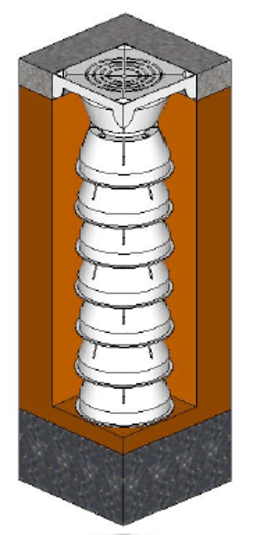 Line Drawing of Stack Drain Drawing 4
