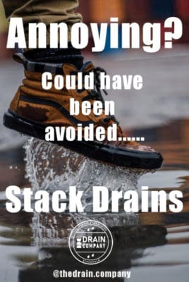 Sales Poster For Water on patio stack drain poster